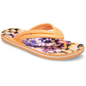 Crocs Crocband Tie Dye Mania Sandalias de Piel Mujer, naranja/Multicolor